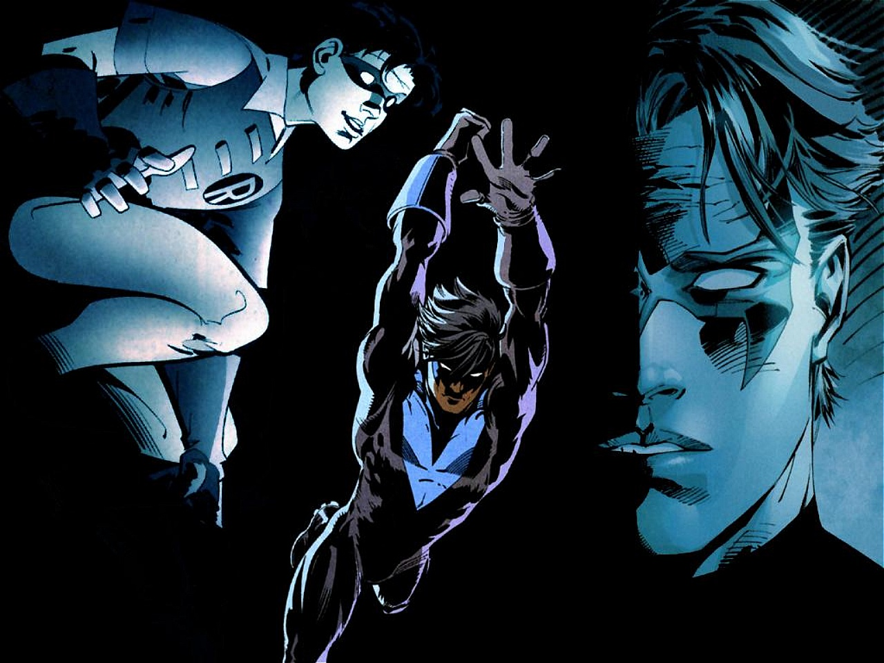 Batman And Robin And Nightwing Wallpaper