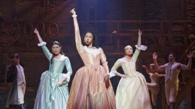 Hamilton Richard Rodgers Theatre Cast Lin-Manuel Miranda Alexander Hamilton Javier Muñoz Alexander Hamilton Alternate Carleigh Bettiol Andrew Chappelle Ariana DeBose Alysha Deslorieux Daveed Diggs Marquis De Lafayette Thomas Jefferson Renee Elise Goldsberry Angelica Schuyler Jonathan Groff King George III Sydney James Harcourt Neil Haskell Sasha Hutchings Christopher Jackson George Washington Thayne Jasperson Jasmine Cephas Jones Peggy Schuyler Maria Reynolds Stephanie Klemons Emmy Raver-Lampman Morgan Marcell Leslie Odom, Jr. Aaron Burr Okieriete Onaodowan Hercules Mulligan James Madison Anthony Ramos John Laurens Phillip Hamilton Jon Rua Austin Smith Phillipa Soo Eliza Hamilton Seth Stewart Betsy Struxness Ephraim Sykes Voltaire Wade-Green Standby: Javier Muñoz (Alexander Hamilton) Production Credits: Thomas Kail (Director) Andy Blankenbuehler (Choreographer) David Korins (Scenic Design) Paul Tazewell (Costume Design) Howell Binkley (Lighting Design) Other Credits: Lyrics by: Lin-Manuel Miranda Music by: Lin-Manuel Miranda Book by Lin-Manuel Miranda